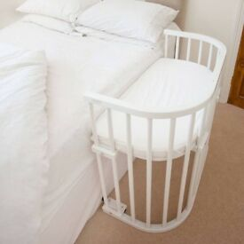 BabyBay bedside co-sleeping cot Convertible White for newborns and babies up to 9 months old