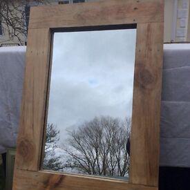 Reclaimed wooden mirror
