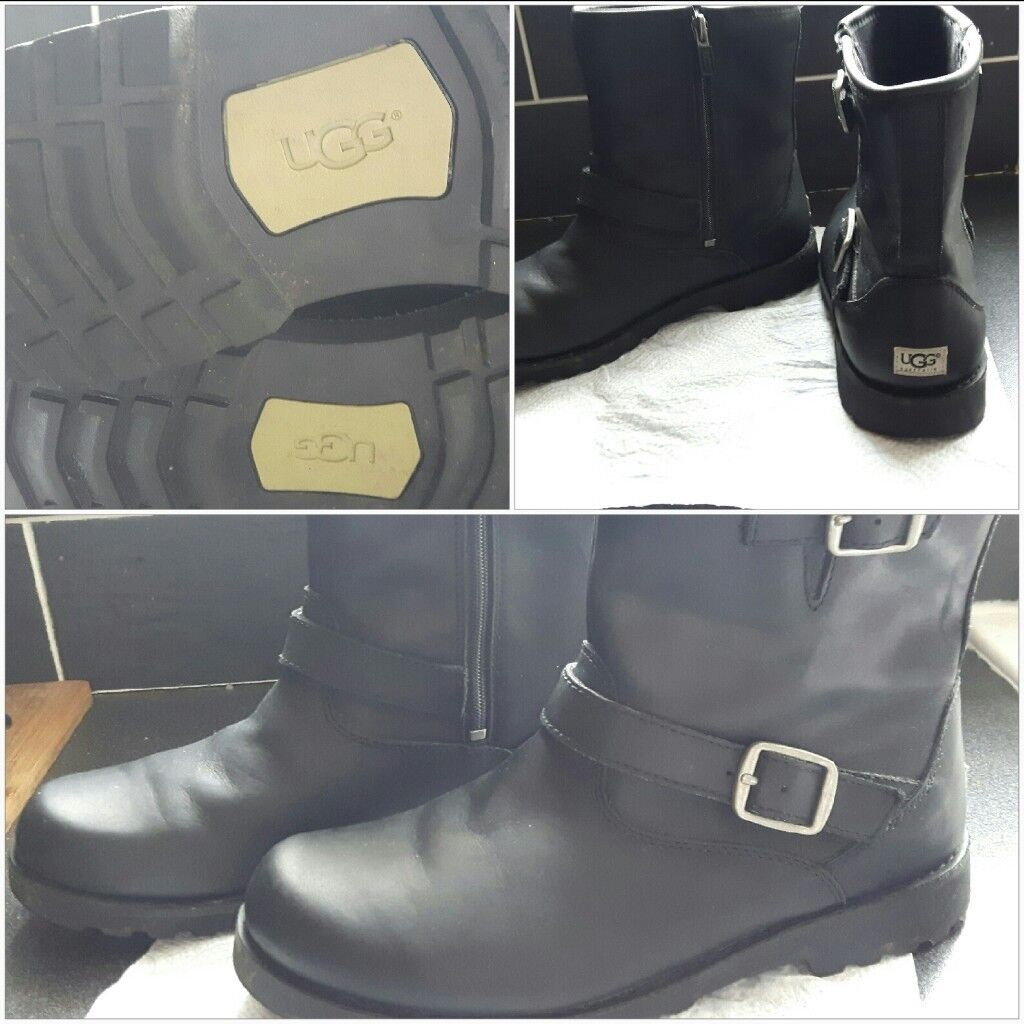 7d4a340471d Ugg Boots Harwell Black Leather Ugg Boots - size 5 | in Stanley, County  Durham | Gumtree