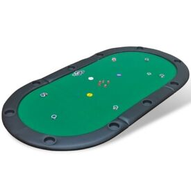 10-Player Foldable Poker Tabletop Green-80135