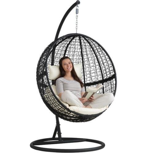 Hangstoel Standaard Marktplaats.Wicker Hangstoel Relaxstoel Zwart Met Standaard A401777