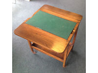 2 hostess trolley card tables and 1 folding card table