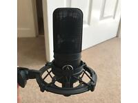 Audio Technica AT4033a condenser mic, ATH M 50 Studio headphones and shock mount £190