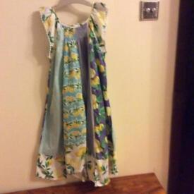 Next girls lemon maxi dress, cardigan and leggings age 9 years