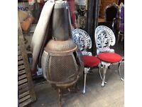 Vintage cast iron pot belly fire