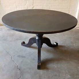 Free BLACK Rustic Farm Country Dining Table Vintage Wimbledon London Industrial