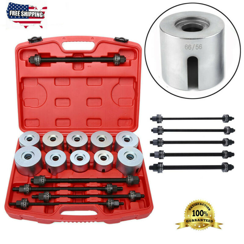27PCS Universal Press & Pull Sleeve Kit Bush Bearing Removal Insertion Tool Set