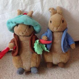 Peter Rabbit and Benjamin Bunny soft toys
