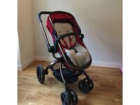 Mothercare Orb Pram / Pushchair with spin action in Berry colour