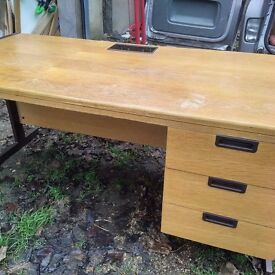 Vintage office/teacher desk with drawers