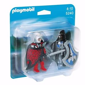 NEW Genuine, Playmobil Knights Duel Duo Pack 5240