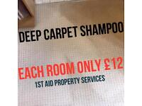 Carpet £12 each room Cleaning