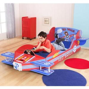 Kids Airplane Toddler Bed Children Bedroom Furniture Boys and Girls Colorful - BRAND NEW - FREE SHIPPING
