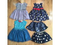 *MINI BODEN* NEW AND UNWORN CURRENT SEASON GIRLS DRESSES AND SKIRTS / ages 2-4 (5 items)