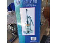 Brand new fruit juicer in box
