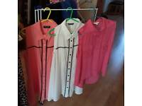 Ladies casual summer tops size 12/14 select and New look