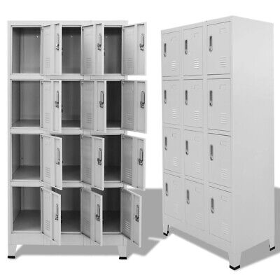 Vidaxl Locker Cabinet With 12 Compartments For Sports Locker Rooms Storage Space
