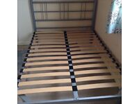 Steelframed modern double bed with mattress