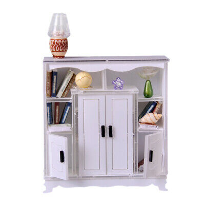 - 1/12 Dollhouse Miniature Furniture Multifunctional Cabinet Model Any Rooms
