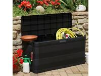 Outdoor Storage Box Chest Container Patio Garden Lockable Waterproof Trunk Large Capacity Tools
