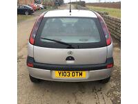 2001 Y Vauxhall Corsa 1.2 3 dr 12 mths mot