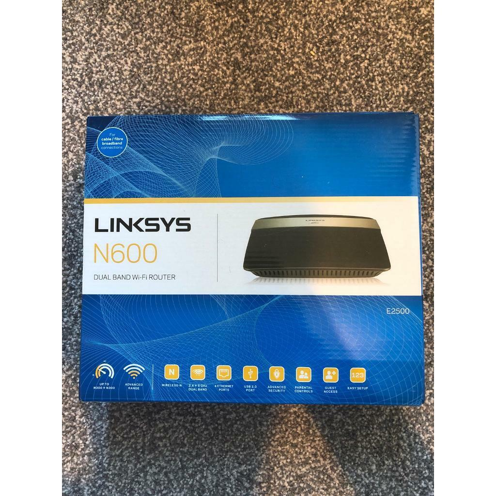 Linksys E2500 Advanced Dual Band N600 Wireless-N Router | in Balham, London  | Gumtree