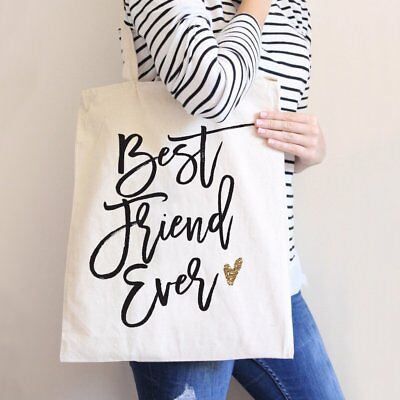 Gift Bag for Fried Best Friend Ever Tote Bag Birthday Gift Cute Carryall Canvas