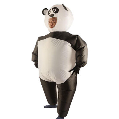 Inflatable Costume Panda Jumpsuit with Gloves Halloween Cosplay Fancy Dress