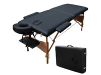 Portable Folding Massage Table Good Quality Strong With Headrest Choice of Wood & Metal Leg