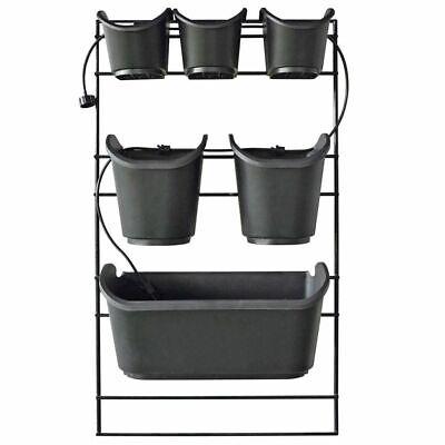 Nature Vertical Garden Planter Flower Plant Pots Decor 48x84 cm Black 6020275
