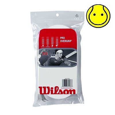 New Wilson Pro Overgrip 30 Pack Tennis Over Grip - Comfort -  White