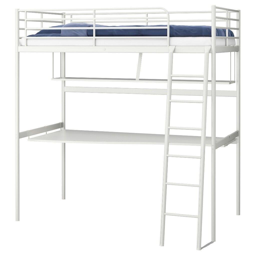 Ikea Svarta Loft Bed With Desk Underneath In Pontypool