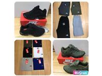 Men's trainers clothes and Ladies bags for sale