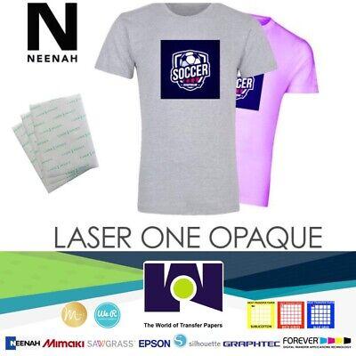 Laser 1 Opaque Dark Shirt Heat Transfer Paper 8.5x11 5 Sheets