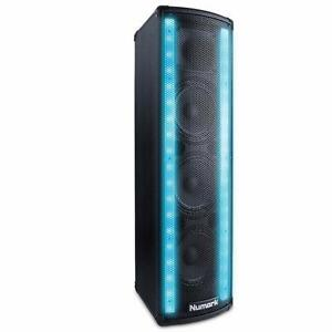 Numark Lightwave DJ Loudspeaker w/Built-in Beat Sync'd Light Show Dual LED Array