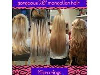 Full head of TOP GRADE extensions from only £250 for new customers lasting up to 12 months!!!