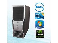 Gaming Dell Precision T3400 PC TOWER COMPUTER,4GB RAM/NVIDIA Quadro FX1700 GRAPHICS