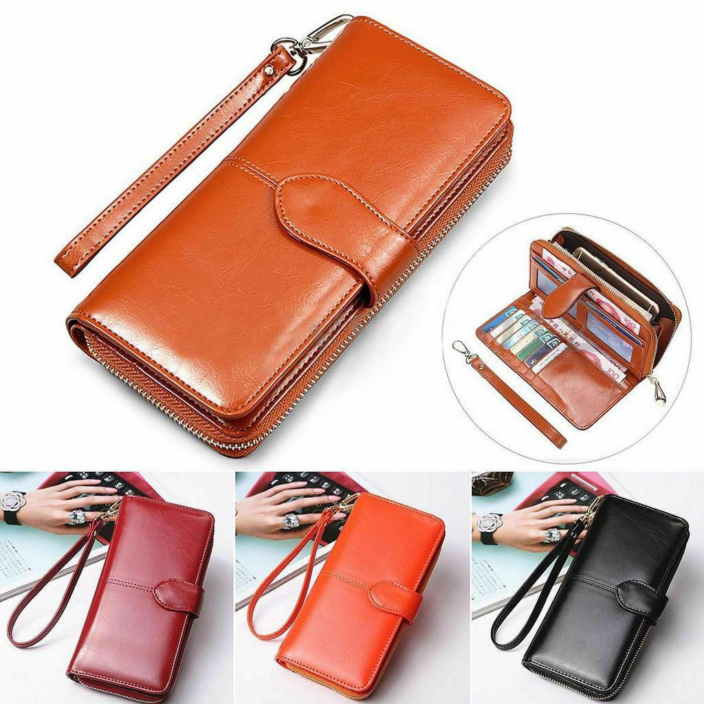 Wallet Women Leather Long Card Hold Female Handbag Case Dollar Soft Fashion New