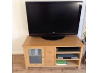 Beech large tv unit and side table.£70 for both. May sell separately