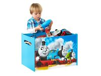 NEW Xmass Boys Storage Toy Box Wooden Chest Children Bedroom Furniture Thomas and Friends