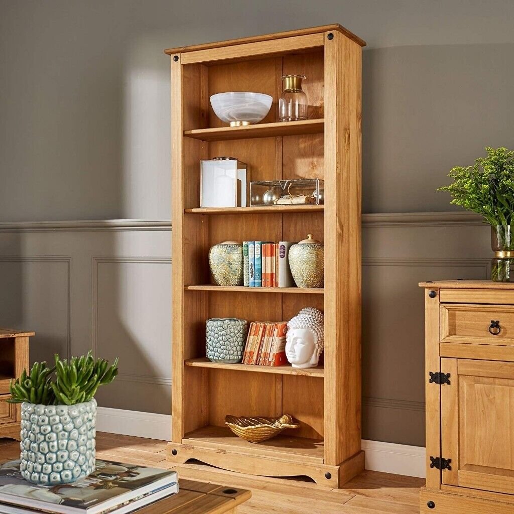 Tall Pine Bookcase 5 Book Shelves Corona Mexican Solid Wood Living Room In Brighton East Sussex Gumtree