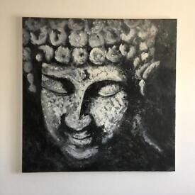 Beautiful large original Buddha Zen painting 91 x 91cm