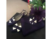 Jacques Vert bag shoes and fascinator