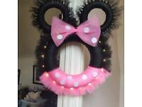 Minnie and mickey christmas wreaths