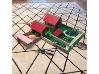 Play farm and plastic animals
