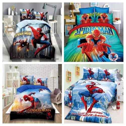 Disney Boys Duvet Cover Comforter Cartoon Spiderman Bedding Sets Bedspreads Gift