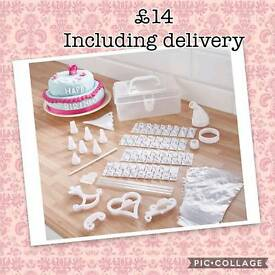100 piece cake decoration kit