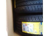 A pair of 205/45/ZR16 tyres.