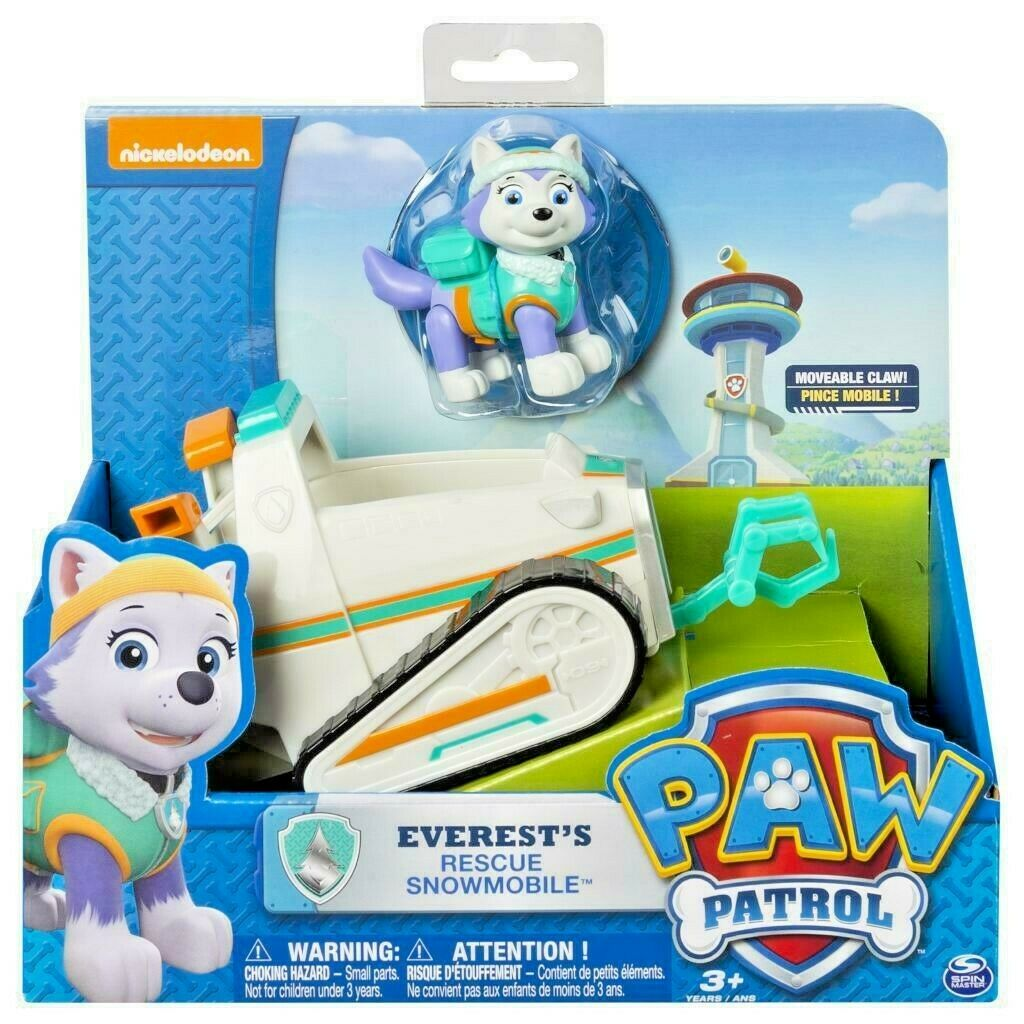 paw patrol everest s rescue snowmobile vehicle