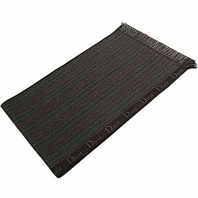 Christian Dior sciarpa righine logomania , striped scarf green